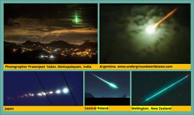 Flaming green fireballs flung at Earth courtesy of Planet X (Nibiru